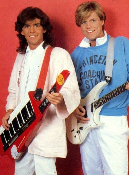"""Modern Talking was a German Synthpop duo consisting of Thomas Anders and Dieter Bohlen. Some of their most popular and widely known singles are """"You're My Heart, You're My Soul"""", """"You Can Win If You Want"""", """"Cheri, Cheri Lady"""", """"Brother Louie"""", """"Atlantis Is Calling (S.O.S. for Love)"""" and """"Geronimo's Cadillac""""."""