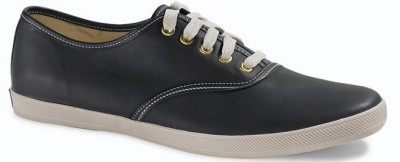 NWT KEDS MEN'S CHAMPION LEATHER BLACK/CREAM CASUAL SHOES | eBay