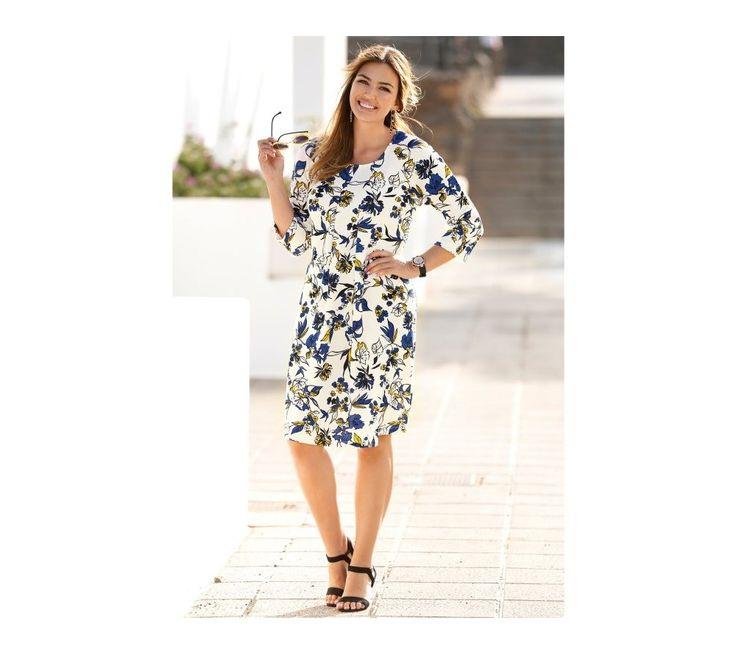 Šaty s potiskem květin | vyprodej-slevy.cz #vyprodejslevy #vyprodejslecycz #vyprodejslevy_cz #saty