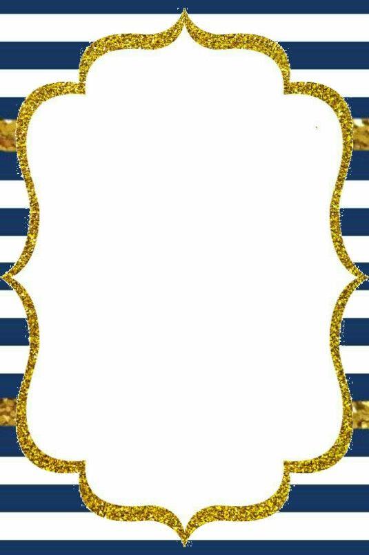 Fondo Azul Navy Y Dorado Rayas 2 Manualidades Lory Pinterest Invitaciones De Cumplea 241 Os