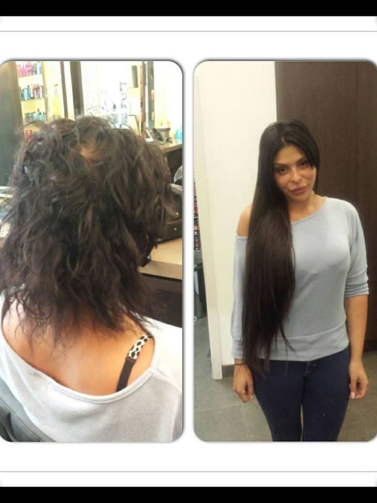 Complete make ove with perfect hair hair extension
