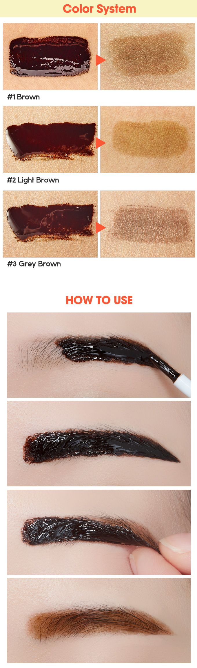 Etude House Tint My Brows Gel 5g            Features    Creating a long time unchanging easily erased without eyebrows                     Detail        How to use  1.  Base products, arranged well after an eyebrow makeup product blemish unglazed thick ey