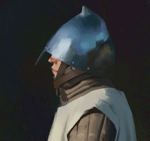 Painting from photo. Medieval knight
