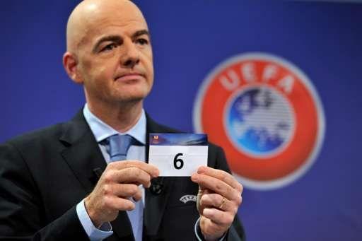 Six held up at Uefa draw