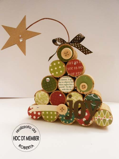 Hobby di Carta - blog: Christmas time - corks Christmas tree. Albero di Natale con tappi di sughero