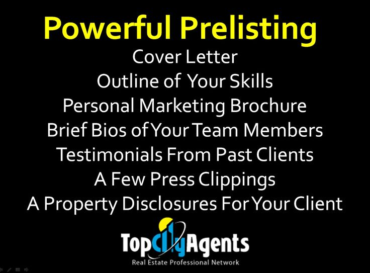 Powerful Pre-listing Real Estate Tip For Realtor, Real Estate Agents, Real…