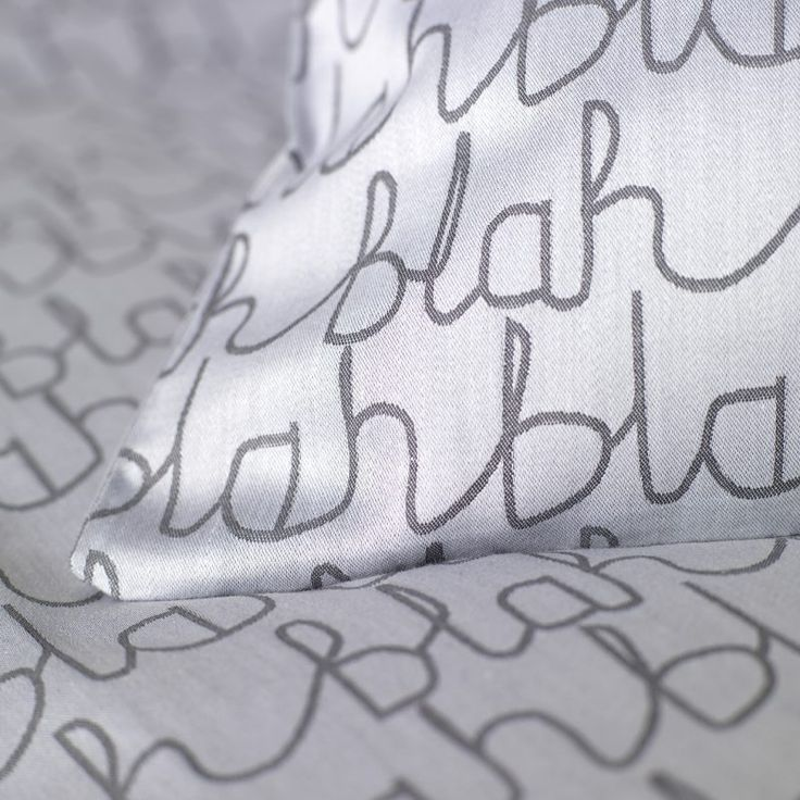 On my wish list!  Donna Wilson Collaboration for Secret Linen Store, Blah Blah Bed Linen Corner, double duvet £75, pillowcase £15