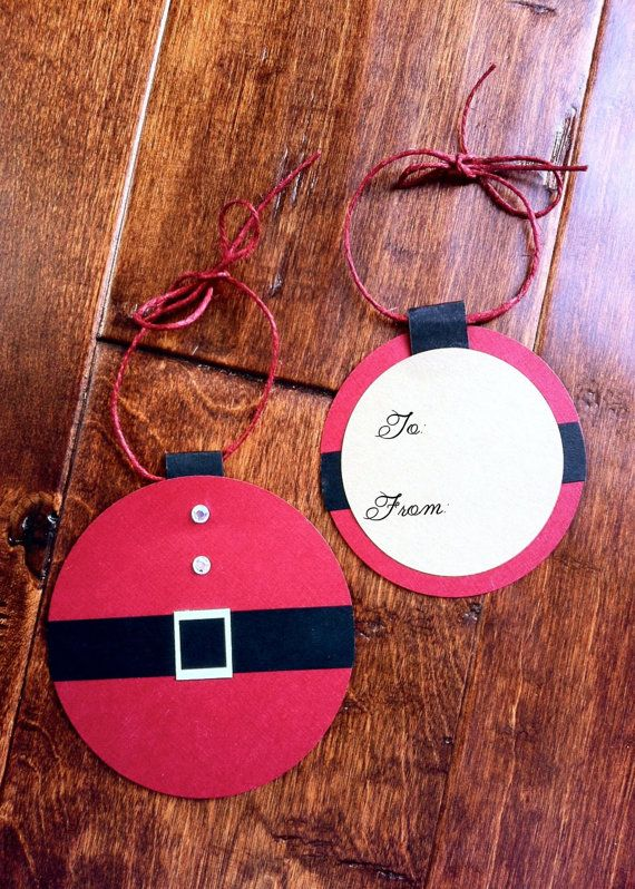 santa gift tag by Beinvitedbybrandy via etsy: