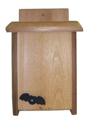 Provide Bat Houses and reduce mosquito populations in your yard. This Single Compartment Bat House that will provide proper shelter for little brown bats during the daylight hours. Grooves on the insi