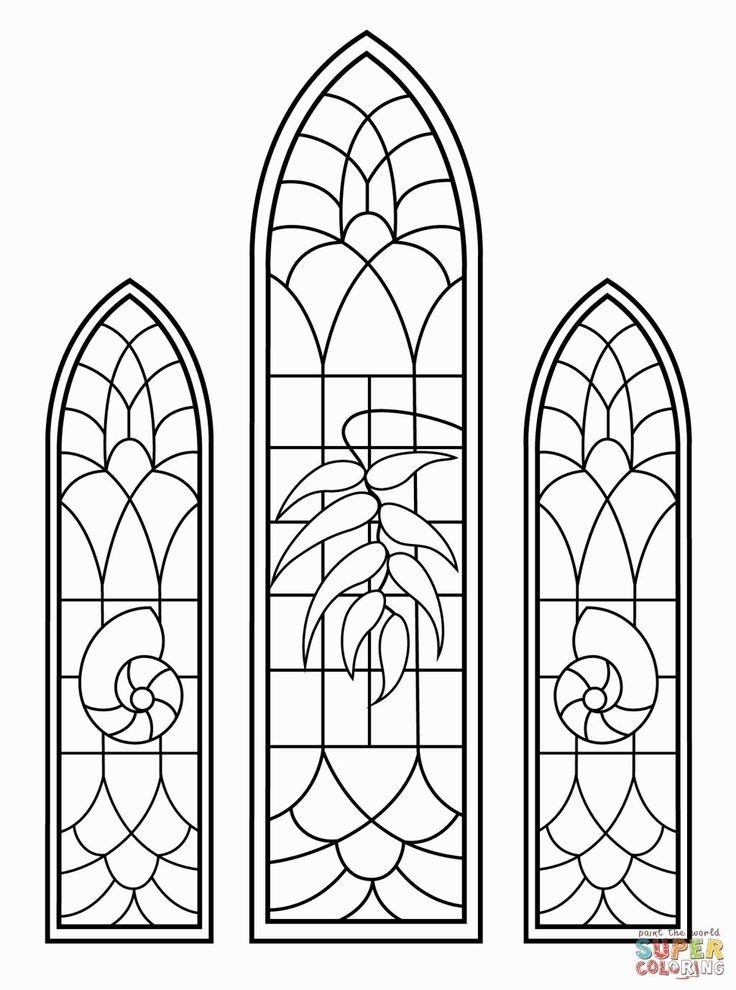 Christmas Colouring Pages Stained Glass Windows Stained Glass Church Stained Glass Mosaic Patterns Window Stained