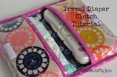 Travel Diaper Clutch Tutorial