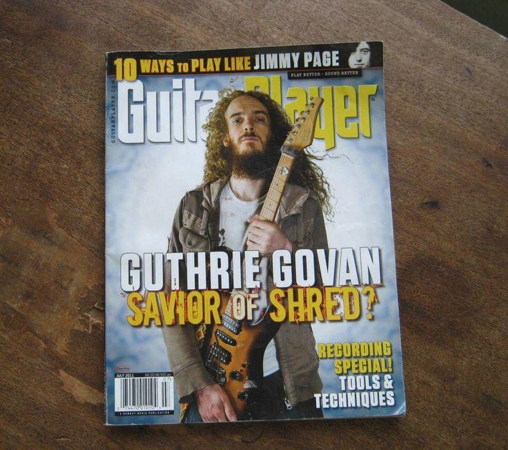 Nice Copy July 2011 Guitar Player Magazine~Guthrie Govan, Carl Verheyen, Lessons