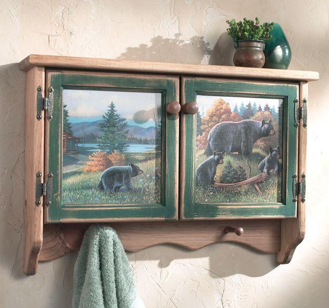 Black Bear Lodge Wall Cabinet