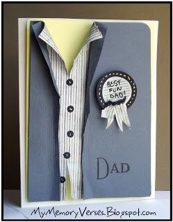 "My Memory Verses: Fathers Day with a Freshly Made Sketch!  Nice ""man"" card."