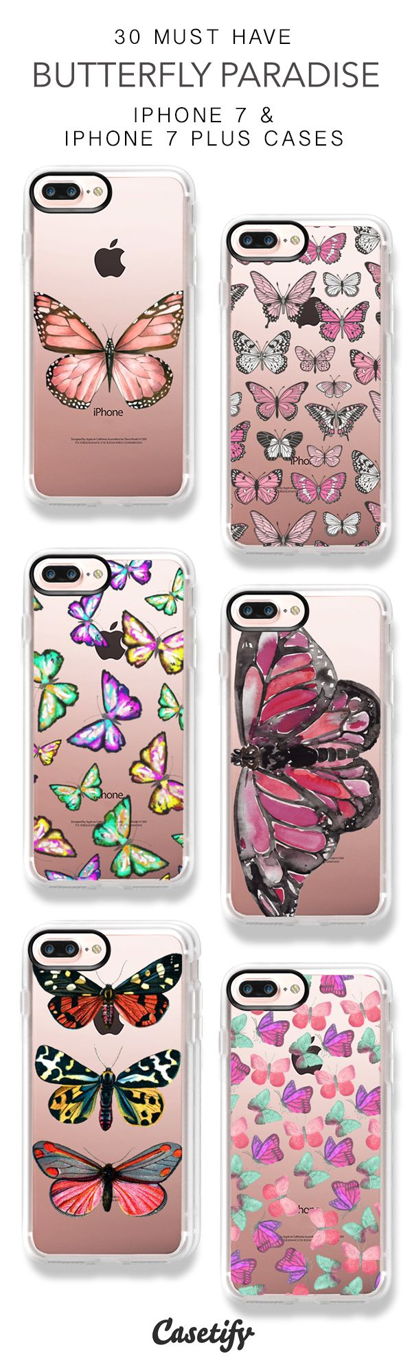 30 Must Have Butterfly Paradise iPhone 7 Cases and iPhone 7 Plus Cases. More Butterflies iPhone case here > https://www.casetify.com/collections/top_100_designs#/?vc=Vb5MnFudxU