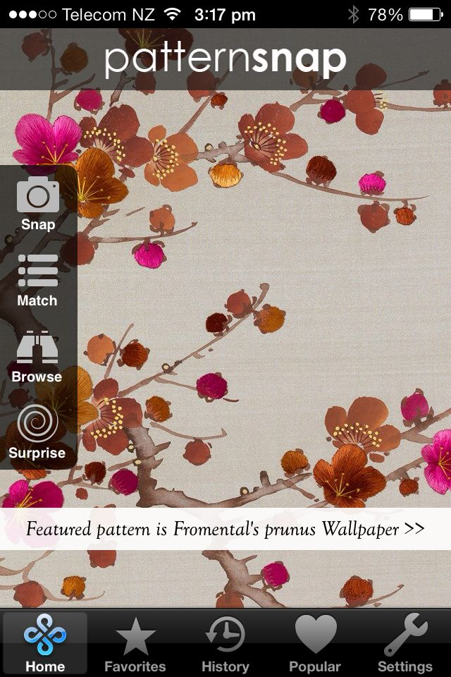 Patternsnap's featured pattern for Friday, 11 April 2014 is Fromental's 'Prunus' wallpaper. www.patternsnap.com