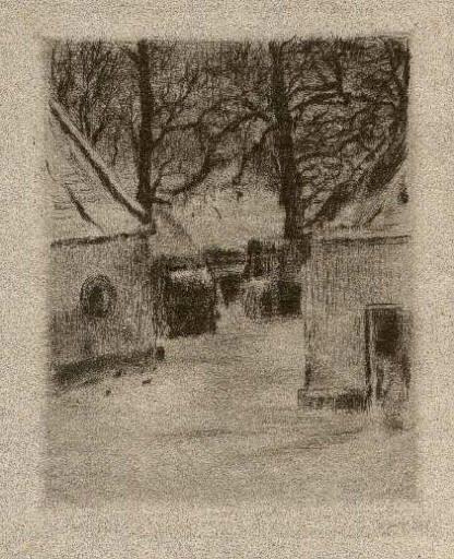 Bohuslav Reynek Dvůr v zimě I / Court in Winter suchá jehla / dry point 14,2 x…