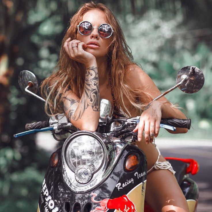 Sexy naked girl tattoo bike lady #12