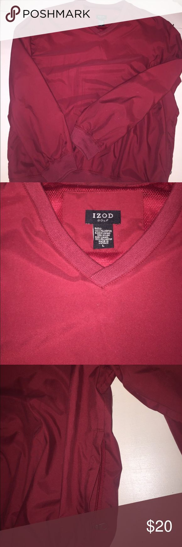 Izod Golf red pullover size L Izod Golf Men's red windbreaker pullover size L. Great condition, worn a couple of times 🏌⛳️ Izod Jackets & Coats Windbreakers