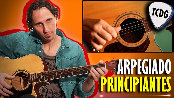Aprende como tocar guitarra acústica desde cero! Arpegio con dedos para ...