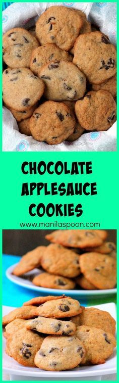 Chocolate and applesauce flavored cookies that are melt-in-your-mouth tender and delicious.So flavorful and light, you simply can't have just one.