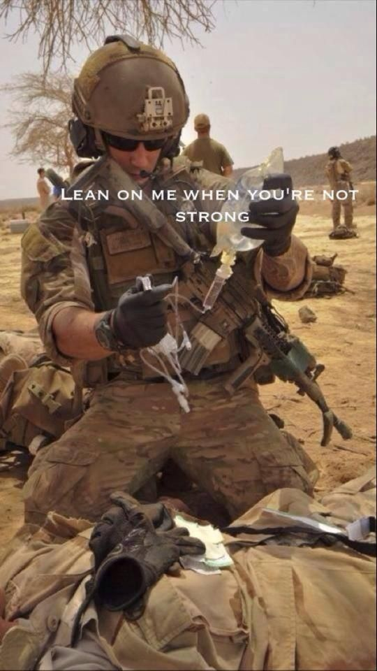 "Always bear the brunt of the wounded, service above self, exhaust all efforts to preserve life. Combat Medic ""Doc"""