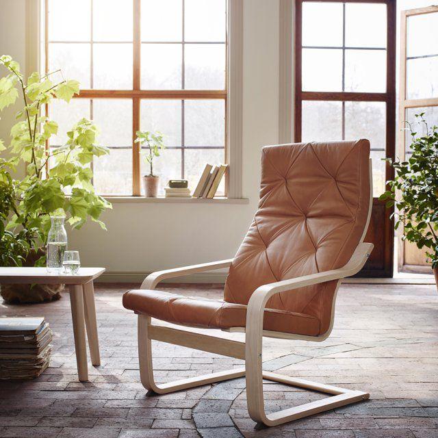Un rocking chair culte en cuir, IKEA