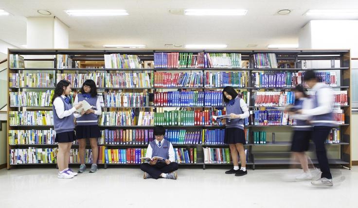 청심국제중고의 특별한 도서관
