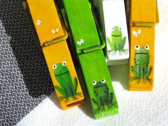 Cute painted clothes pins
