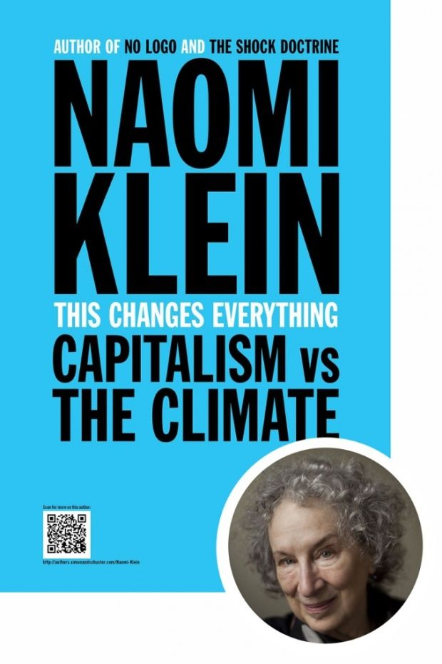 Writers Pick Best Books of 2014: Margaret Atwood selects This Changes Everything by Naomi Klein