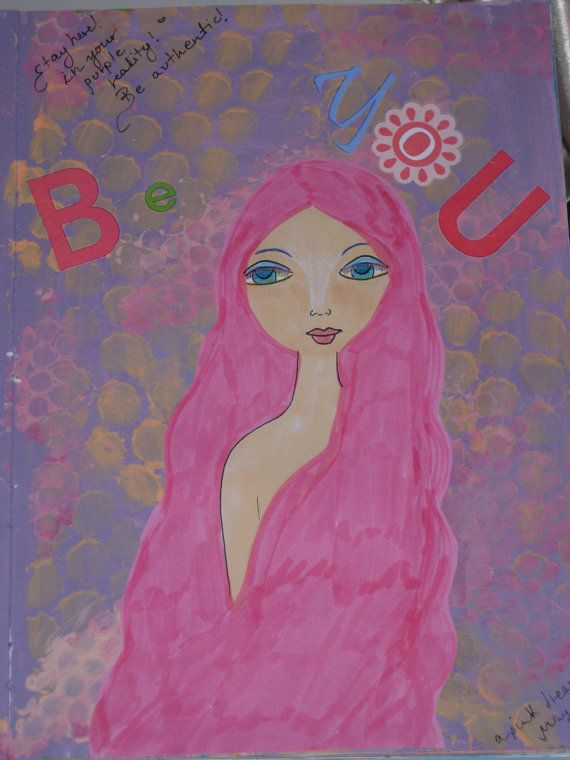 Be You  Mixed media art print by eltsamp on Etsy, $15.00