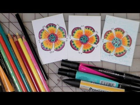 coloring with markers and colored pencils together