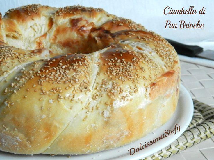 La Ciambella di Pan Brioche salata e farcita con prosciutto cotto e sottilette