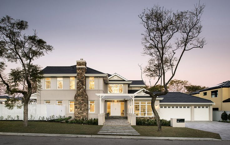 The Hamptons style Long Island Display home by Oswald Homes