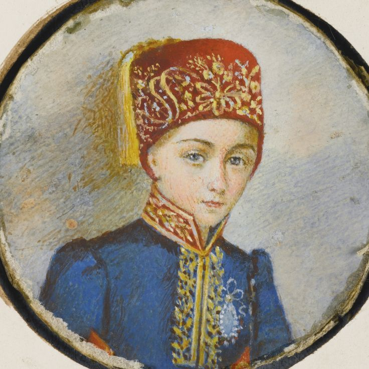 An oval portrait of Princess Atiye Sultana (1824-50), daughter of Sultan Mahmud II, Turkey, first half 19th century | lot | Sotheby's