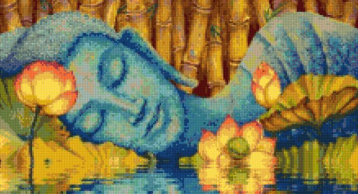 Lotus Buddha Cross Stitch pattern - PDF - Instant Download! by PenumbraCharts on Etsy