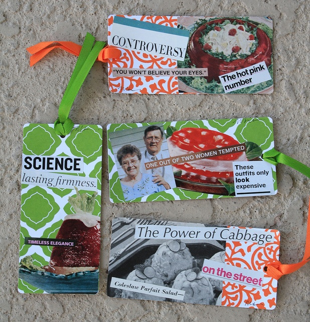 $5 - Congealed Salad Gift Tag Set of 4 - Martha Merry Original by Martha Merry.    Follow me on Facebook!  https://www.facebook.com/itsstrange