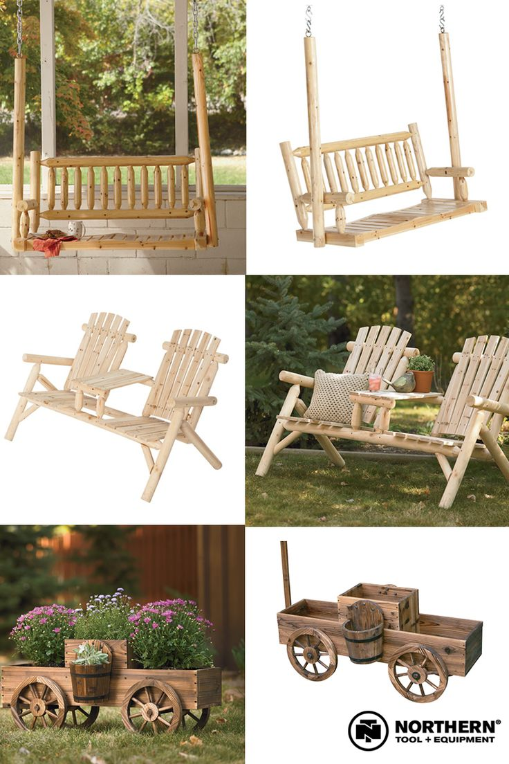 This outdoor furniture adds rustic charm to your yard at an affordable price