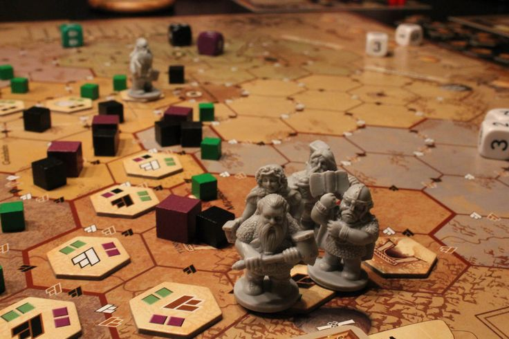 The Dwarves (2012) Based on the first novel of the Die Zwerge tetralogy [Eng. The Dwarves] by author Markus Heitz, the goal of the cooperative game Die Zwerge is to keep evil from flooding Girdlegard. During set-up, players choose one of the dwarves from the novel, each of which is equipped with a unique special ability and different stats for fighting, crafting, and movement.