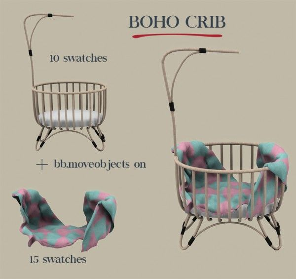 Leo Sims - Boho crib for The Sims 4
