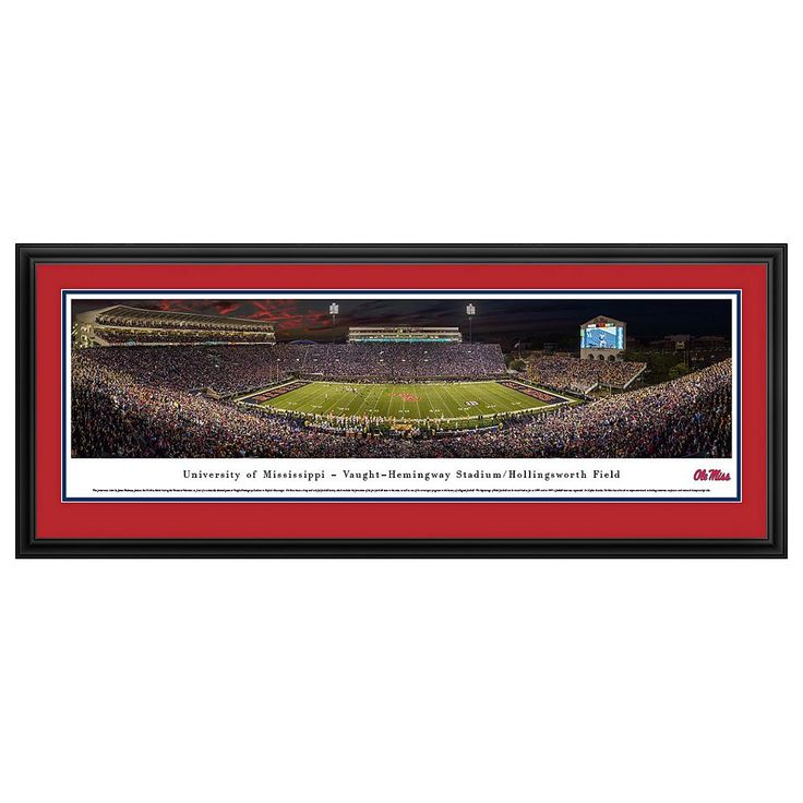Ole Miss Rebels Football Stadium Framed Wall Art, Multicolor