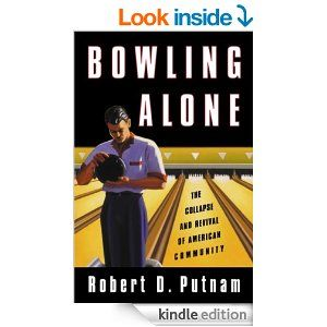 an analysis of robert putnams book bowling alone Bowling alone by robert d putnam - once we bowled in leagues, usually after work—but no longer this seemingly small phenomenon symbolizes a significant social.