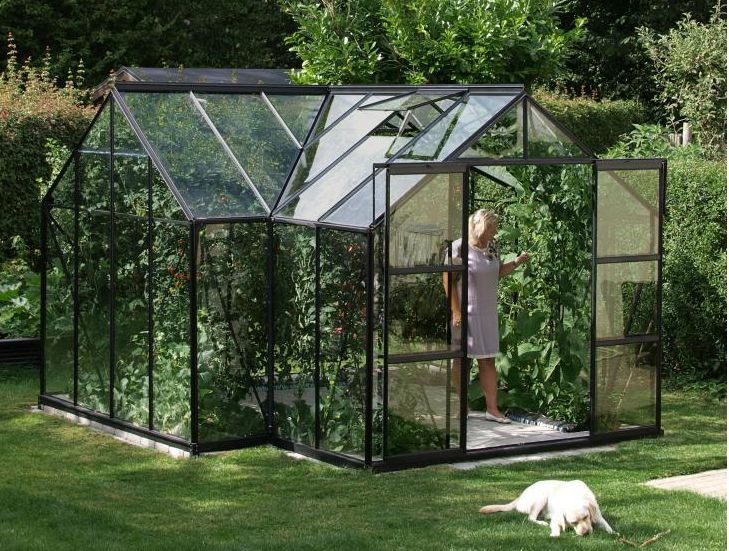 Växthus Odla : Växthus med dörr på långsidan images about och odling