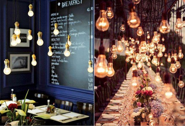 É pop: luminária com lâmpada pendente | Blog do Elo7
