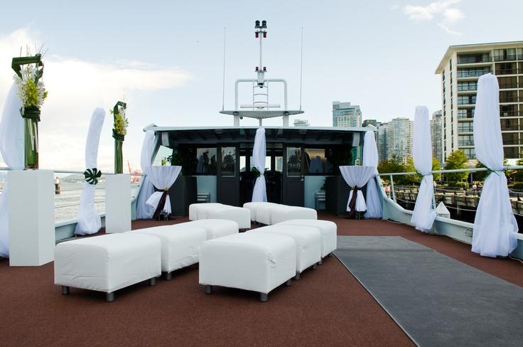 The sky deck aboard The Wedding Yacht