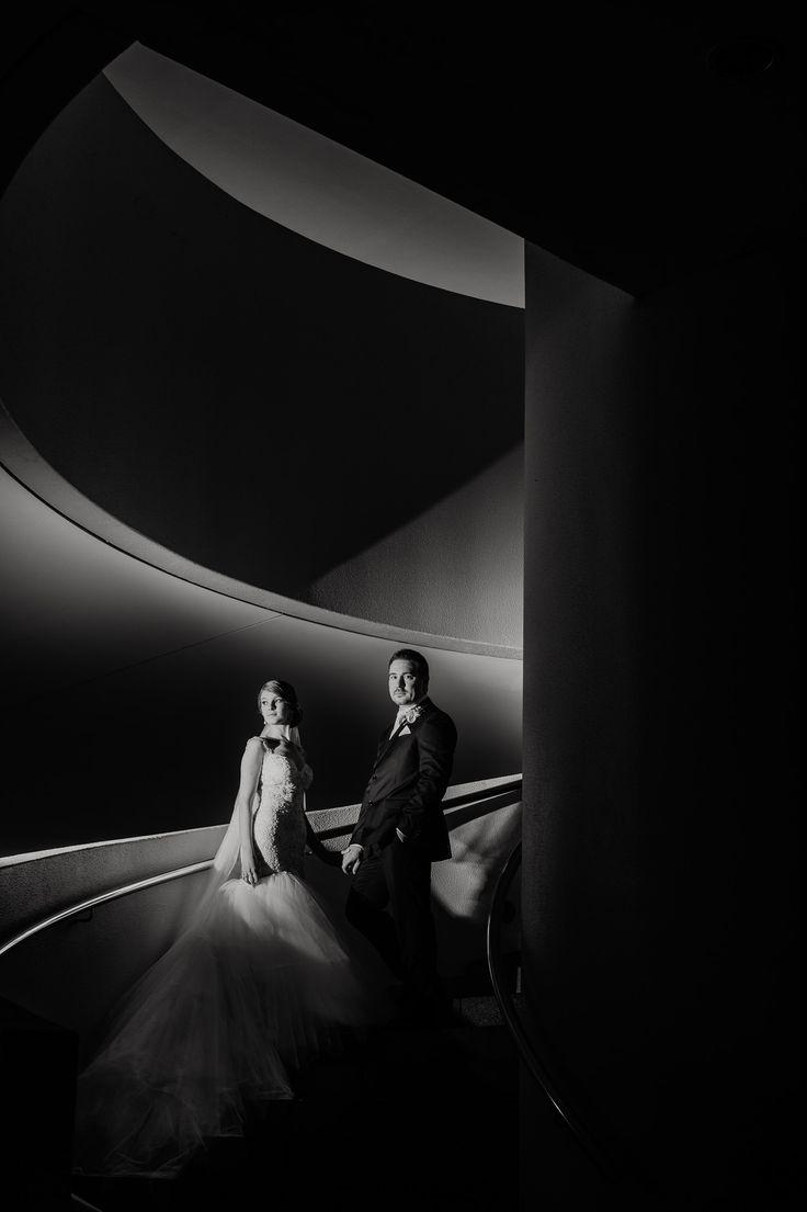 Monique + Dennis. Black & White photography by iZO Photography