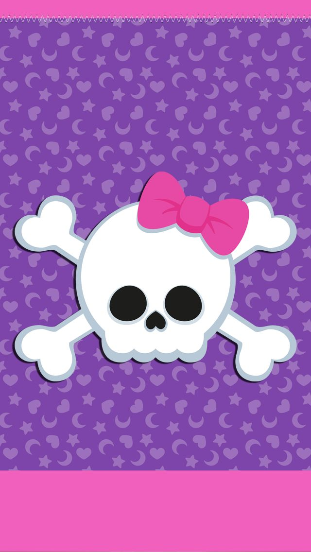 girly skull iphone wallpaper background wallpapers