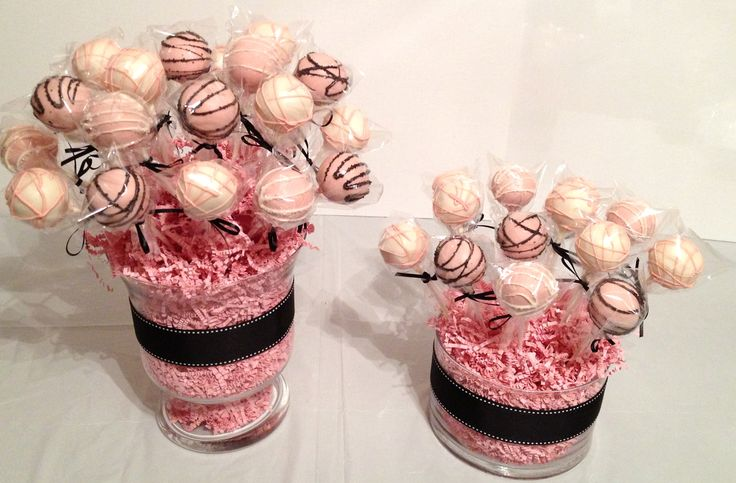 Bridal Shower Cake Pop Centerpieces