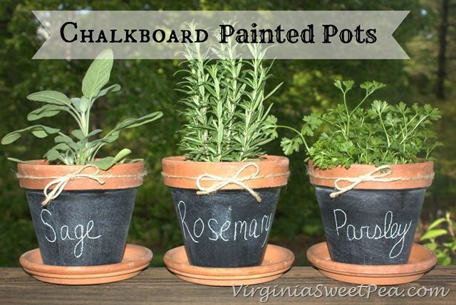 chalkboard pots   ... purchase inspired my latest crafty project, chalkboard painted pots