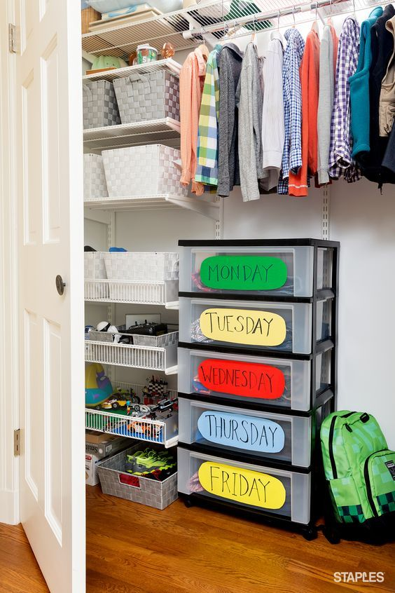 Organization ideas for a family ideas para organizar la - Organizar ropa bebe ...